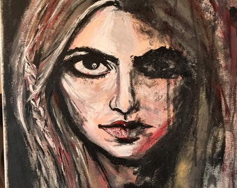 Duality, acrylic painting on canvas, 16x20, original