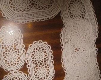 Antique crochet doilies or placemats