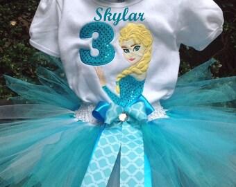 Frozen Birthday Outfit Frozen Birthday Shirt Elsa Birthday Outfit Elsa Birthday Shirt Frozen 3rd Birthday Outfit Elsa 3rd Birthday Outfit