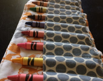 Foxes Crayon Roll