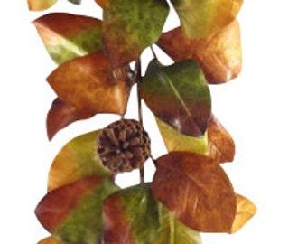 48 Inches Fall Magnolia Leaf Garland