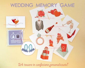 WEDDING MEMORY GAME-set 5 pieces