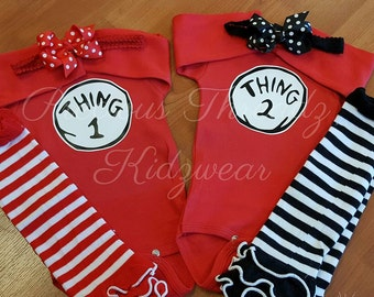 Dr. Suess, Thing 1 & Thing 2, Wild Thing, Miss Thing, Onesies or Shirt