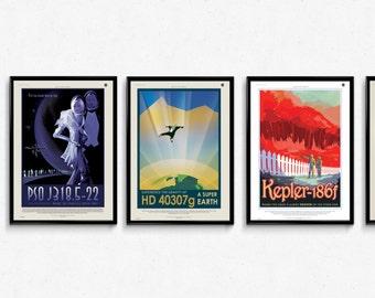 NASA Exoplanet Travel Prints/poster - 5 x High Quality A3 Prints