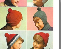 Unique Knit Hat Pattern Related Items Etsy