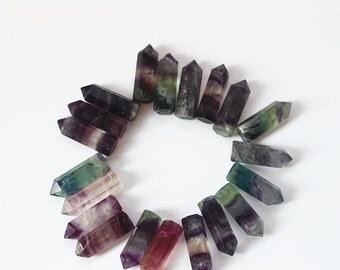 Fluorite Point - Reiki - Chakra -Power Stone - Jewelry Making
