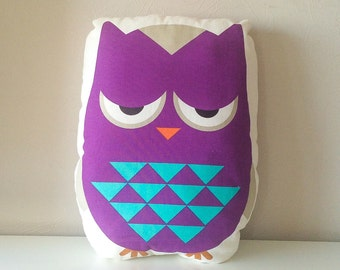 Free shipping, owl pillow, stuffed owl, owl cushion