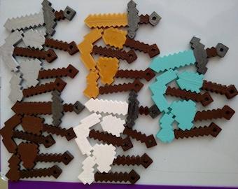 Minecraft Tool Keychain Set