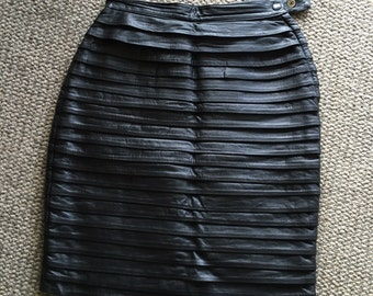 90s Leather layered skirt