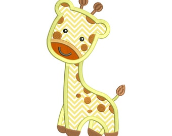 Giraffe Applique Embroidery Design Download Stitch Design - 0160