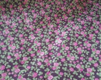pink floral material