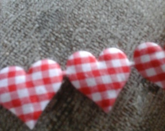 red gingham heart trim