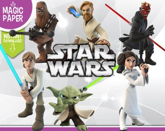 Star Wars Infinity Clipart - Disney Rebels Digital 300 DPI PNG Images, Photos, Scrapbook, Digital, Cliparts - Instant Download