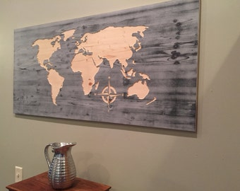 rustic us map wall art wood carved united states map by howdyowl. Black Bedroom Furniture Sets. Home Design Ideas