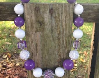 Chunky necklace, purple necklace, girls necklace, bubblegum bead necklace, necklace, kids necklace, bubble necklace, purple
