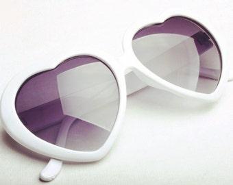 Retro Style Heart Shaped Sunglasses