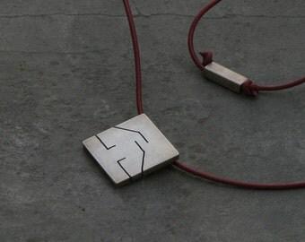 CANCER. Contemporary design. Star Sign pendant. Handmade