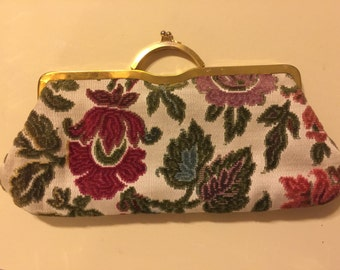 Beautiful Chenille Clutch Vintage
