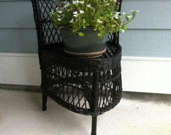 Items Similar To Vintage Hand Carved Low Chair Goth
