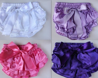 Newborn Baby Bloomers Girl Ruffle Diaper Nappy Cover Pants Petti Photo Prop