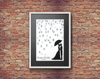 Fingerprint-Guestbook Rain