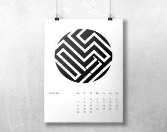 Desk Calendar Geometric 2016 - A5