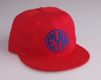 Personalized Monogram Snapback Hip Hop Cap Baseball Cap Hat (CPH-007)