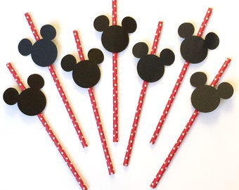 Mickey Mouse Party Straws. Mickey Mouse Party. Minnie Mouse Party. Disney Party. Birthday Party. Kids party.