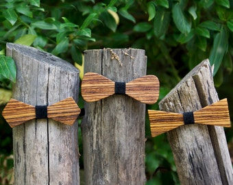 Exotic Wood Bow Ties
