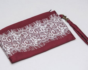 5 th clutch for FREE\clutch shabby chic\Wedding clutch\clutch purse\clutches for bridesmaids\ clutch Marsala