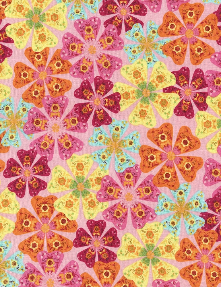 Floral cotton fabric packed floral modern children 39 s for Modern kids fabric