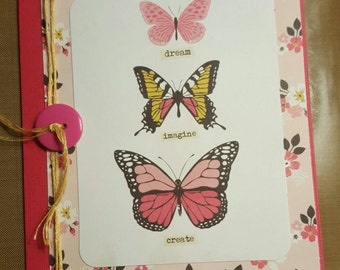 Butterfly card Dream Imagine Create