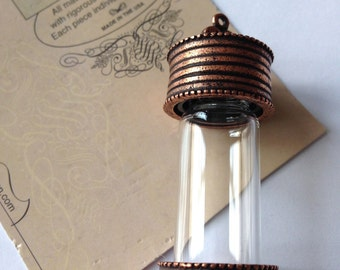 Nunn Design Antique Copper 58 x 20mm Glass Keepsake Pendant
