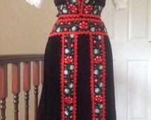Folk-Art Hungarian Traditional Hand embroidered Kalotaszeg  costum/Size: UK 10-16