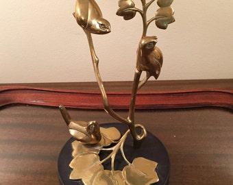 Beautiful Brass Bird Statue