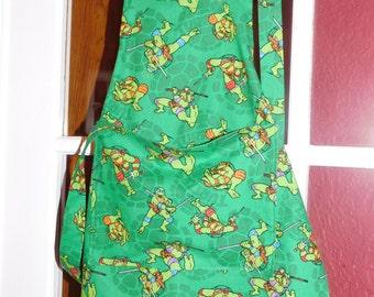 CHILD'S NINJA Turtles Apron   green  3-7 yrs