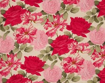 Martha Negley Rose Garden Westminster Fabrics Tiger Rose  Cotton Quilt BFab