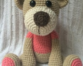 Crochet Classic Teddy Bear - Handcrafted and 100% Cotton (Can also make custom colors)