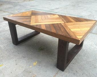 Square design coffee table