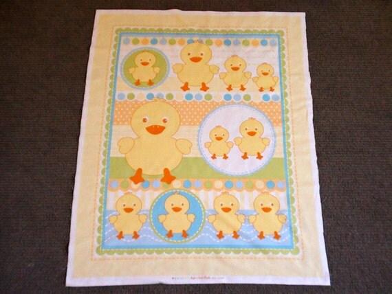 Fabric for kids baby quilt panel duck bird nursery fabric for Bird nursery fabric