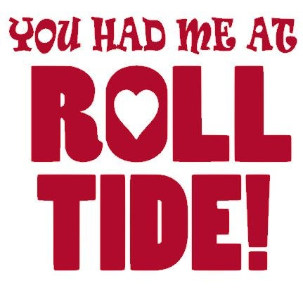 Car decals alabama roll tide decals truck window by for Alabama football mural