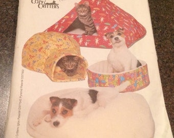 Butterick 5903 Sewing Pattern Pet Beds Pill Box Iglo Furball Pyramid Igloo For  Dogs And Cats New Uncut