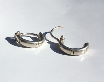 Sterling Silver Handcrafted Hoops .5""