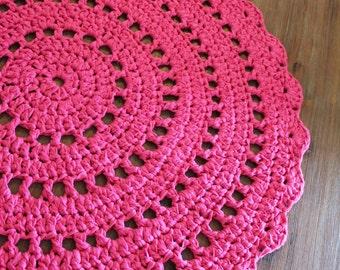 Crochet Rug ~ Mandala Rug ~ Handmade