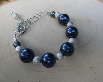 Blue & Silver Bracelet