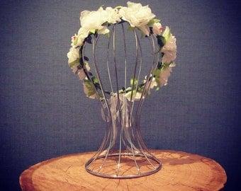 Flower girl halo/wreath/fairy crown/Vintage wedding accessories