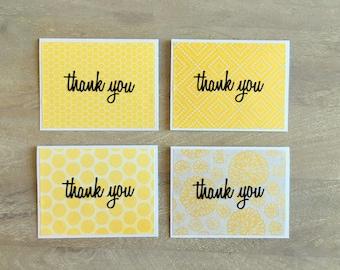 Mellow Yellow Thank You Card Set (4 cards)