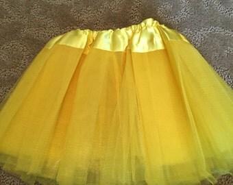 Newborn yellow tutu, newborn yellow skirt, Ready to ship