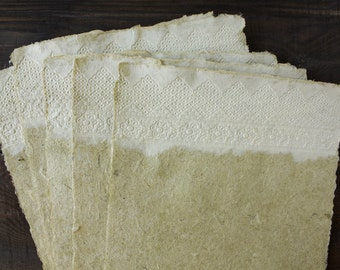 Beautiful, Decorative paper - Lace paper - Textured paper - Handmade paper - Art paper - Eco friendly - Нomemade paper (#21gwl)