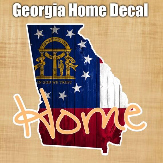 Georgia State Flag Sticker Decal Georgia Peach Home Sticker